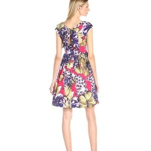 Donna Morgan Tie-Back Fit and Flare Print Dress
